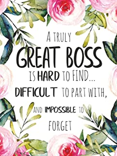 A truly great boss is hard to find POSTER A3 Amazing Boss Appreciation Gift Office Decor Wall Art Print