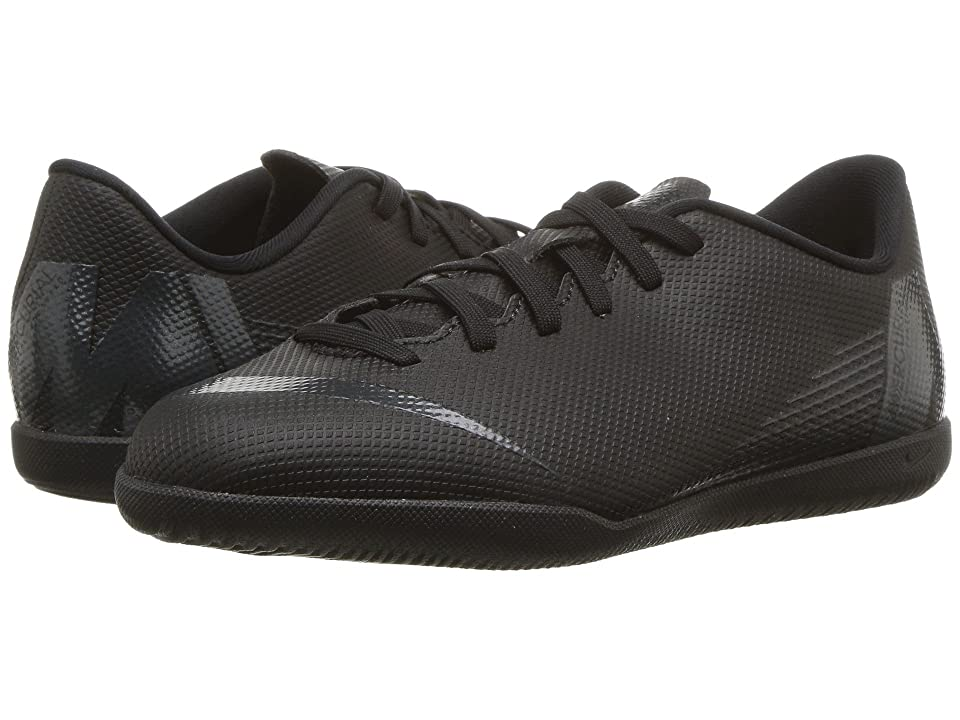 Nike Kids VaporX 12 Club IC Soccer (Toddler/Little Kid/Big Kid) (Black/Anthracite/Black/Light Crimson) Kids Shoes