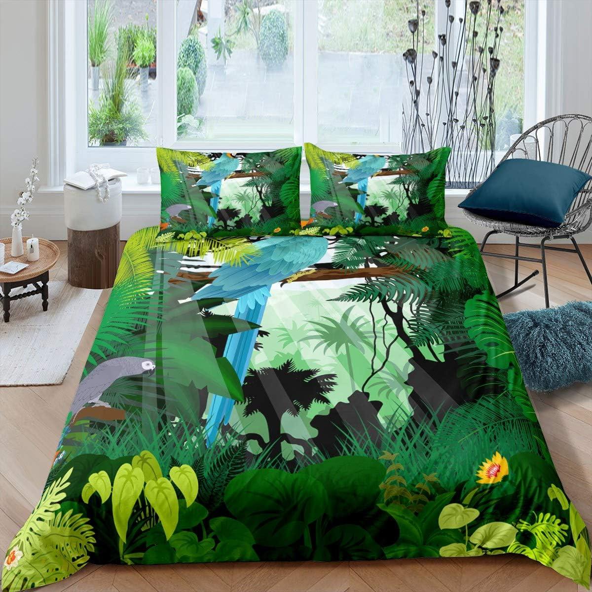 大人気 スーパーセール Feelyou Leaf Duvet Cover Botanical Bra Fresh Set