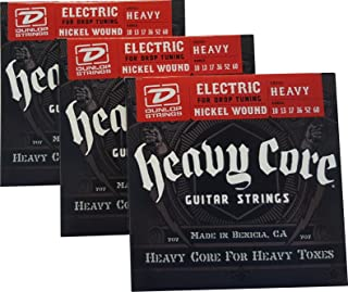 Dunlop Heavy Core Strings - Heavy 10-60 3 Pack Box of 6 Sets DHCN1060-6