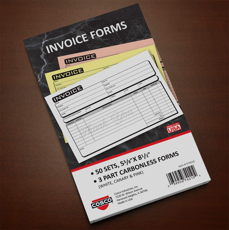 Cosco Service Invoice Form Book with Slip x 8