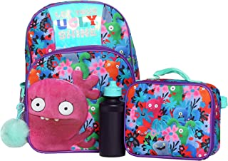 Girls 4PC Ugly Dolls Licensed Backpack and Lunch Set