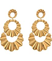 Kate Spade New York - Scrunched Scallops Triple Drop Earrings
