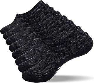 No Show Socks, coskefy Low Cut Trainer Socks Invisible Socks Non-slip Sports Liner Socks for Men Women Ladies (8 Pairs/10 ...