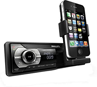 Philips CMD310 RDS AM/FM Car Radio with Machined Retractable Stand for Apple iPhone and iPod (Renewed)