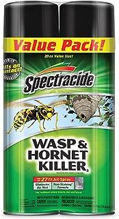 Spectracide 65865 HG-65865 Wasp & Hornet Killer Aerosol, 20-oz, 2-PK, Case Pack of 2, Multicolor
