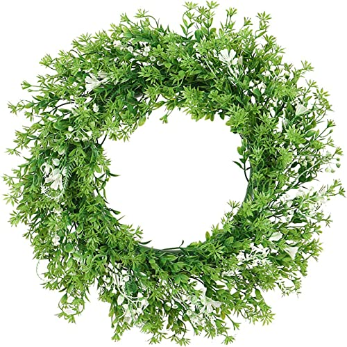"""2021 17"""" Chrysanthemum Leaf Wreath Artificial Green Leaves Wreath for Front Door Wall Hanging lowest Window Wedding Party Decoration Home wholesale Decor Easter Spring Wreath online sale"""