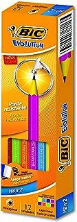 Lápis Evolution Hexagonal, BIC 930017, Preto, Pacote de 12