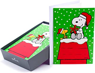 Hallmark Peanuts Boxed Christmas Cards, Snoopy (16 Cards and 17 Envelopes)