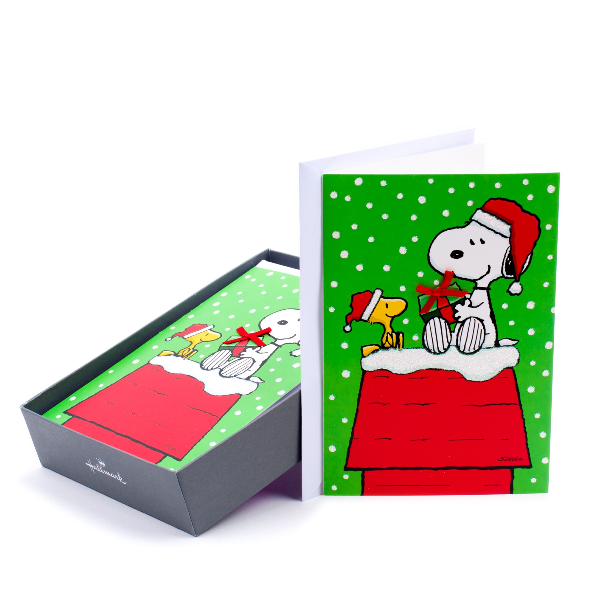 Image of Hallmark Woodstock and Snoopy Christmas Greeting Cards
