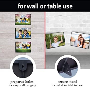 Mantello 4x6-Inch Picture Frame Set - Front Loading Small Photo Holder for Family Gallery - Display for Wall Artwork, Accent