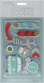 DCWVE Die Cuts with A View Icon Pack Letterboard-Travel (14 pcs) LP-006-00040