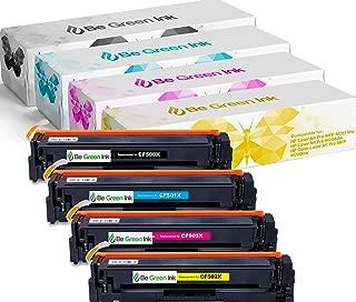 Be Green Ink Compatible Toner Cartridge Replacement for HP 202X 202A M281fdw M281cdw LaserJet Pro M254dw M254nw M280nw CF500X CF501X CF502X CF503X (4-pack, High Yield)