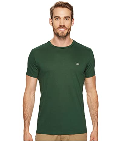 Lacoste Short-Sleeve Pima Jersey Crewneck T-Shirt (Green) Men