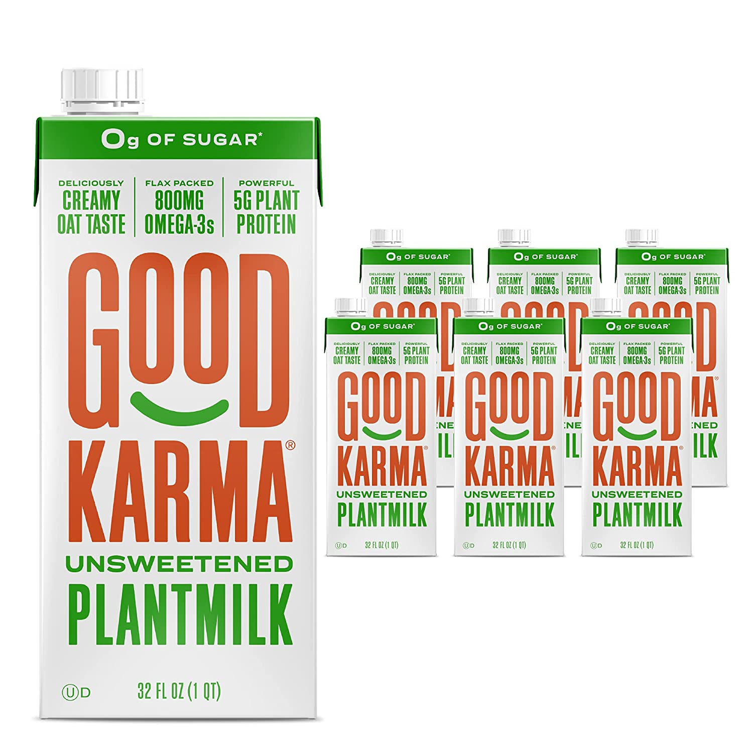 Good Karma Plantmilk Manufacturer direct delivery Unsweetened Made with Flax National products Oats Peas