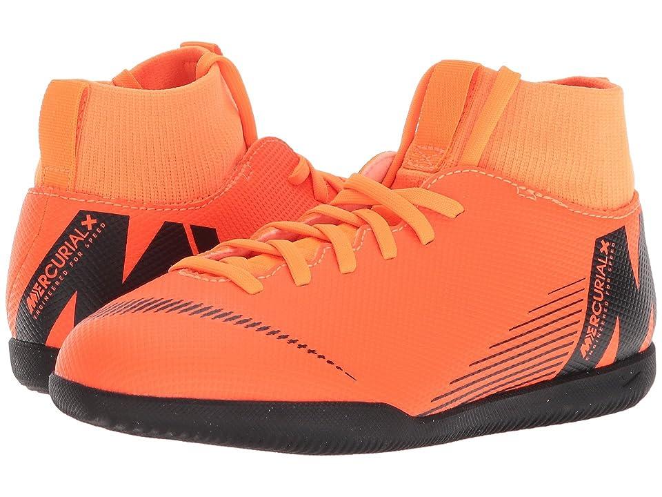 Nike Kids SuperflyX 6 Club IC (Toddler/Little Kid/Big Kid) (Total Orange/Black/Total Orange/Volt) Kids Shoes