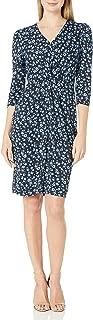 Lark & Ro Amazon Brand Women's Long Sleeve Twist Front Dress