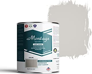 Montage Signature Interior/Exterior Eco-Friendly Paint, Dove Gray - Low Sheen, 1 Gallon