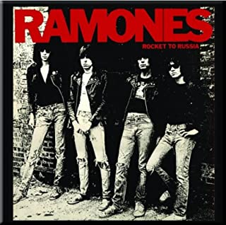 Ramones Fridge Magnet Rocket To Russia Official 76Mm X 76Mm
