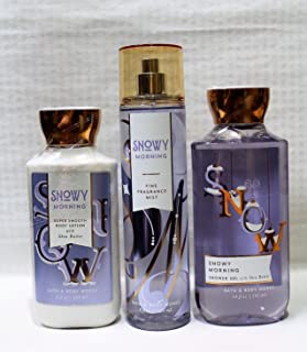 Bath & Body Works ~ Signature Collection ~ Winter 2017 ~ Snowy Morning ~ Shower Gel - Fine Fragrance Mist & Body Lotion – Trio Gift Set