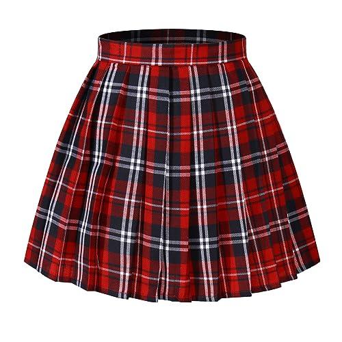 57ef0699c3 Beautifulfashionlife Women's Japan high Waisted Pleated Cosplay Costumes  Skirts
