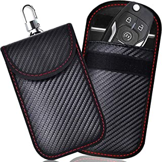 Todoxi Faraday Schlüsselanhänger Schutz (2 Stück) Faraday Taschen Autoschlüssel Signalblockierung Autosicherheitsschutz Tasche