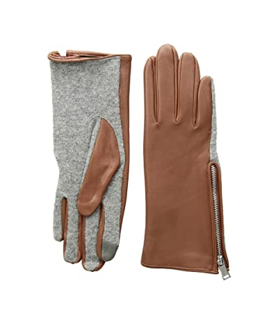 LAUREN Ralph Lauren Perforated Gusset Touch Gloves (Cuoio) Extreme Cold Weather Gloves
