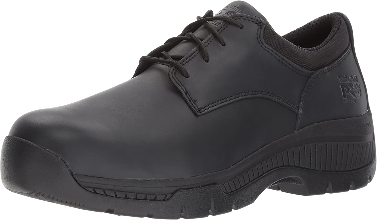 Timberland PRO Men's Valor Duty Soft Toe Oxford Military & Tactical Boot, Black Smooth Leather, 10