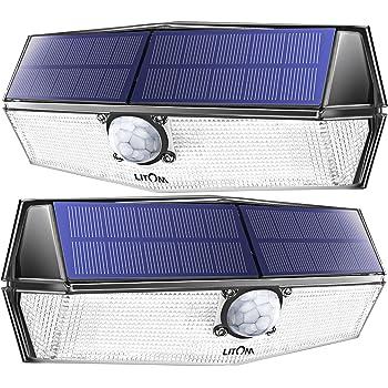 LITOM 300 LED Solarleuchte Solarlampen Außenleuchte Gartenlampe IP67 Wandleuchte