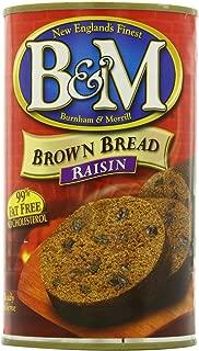 B & M Brown Bread, Raisin Bread, 16 Ounce (Pack of 12)