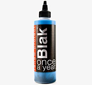 Blak : : Once A Year - Restore Faded Black, Renew Plastic, Rubber, and Vinyl Color, Prevents Dry Rot on Tires – Weather- and Salt-Proof, UV Block, Med. Gloss Dry-Seal – 8oz Kit