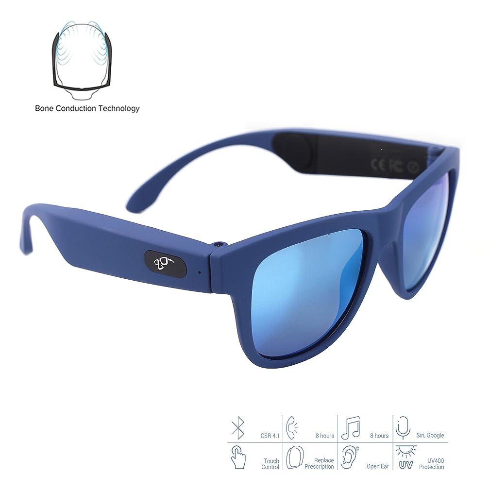 見る人惑星ブッシュ骨伝導Bluetoothイヤホンサングラス - 近視眼鏡 - タッチコントロール機能ヘッドセット - 高品質ステレオワイヤレススポーツイヤホン - iOS/Android/PC用