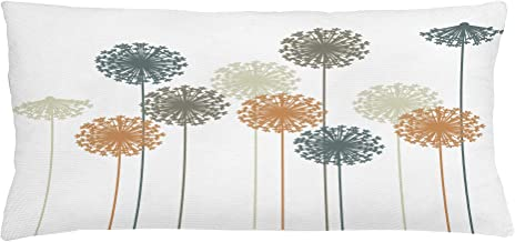 Ambesonne Dandelion Throw Pillow Cushion Cover, Abstract Wildflower Silhouettes Botanical Inspirations Meadow in Summer Season, Decorative Rectangle Accent Pillow Case, 36
