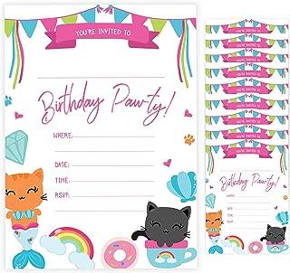 cat themed birthday invitations