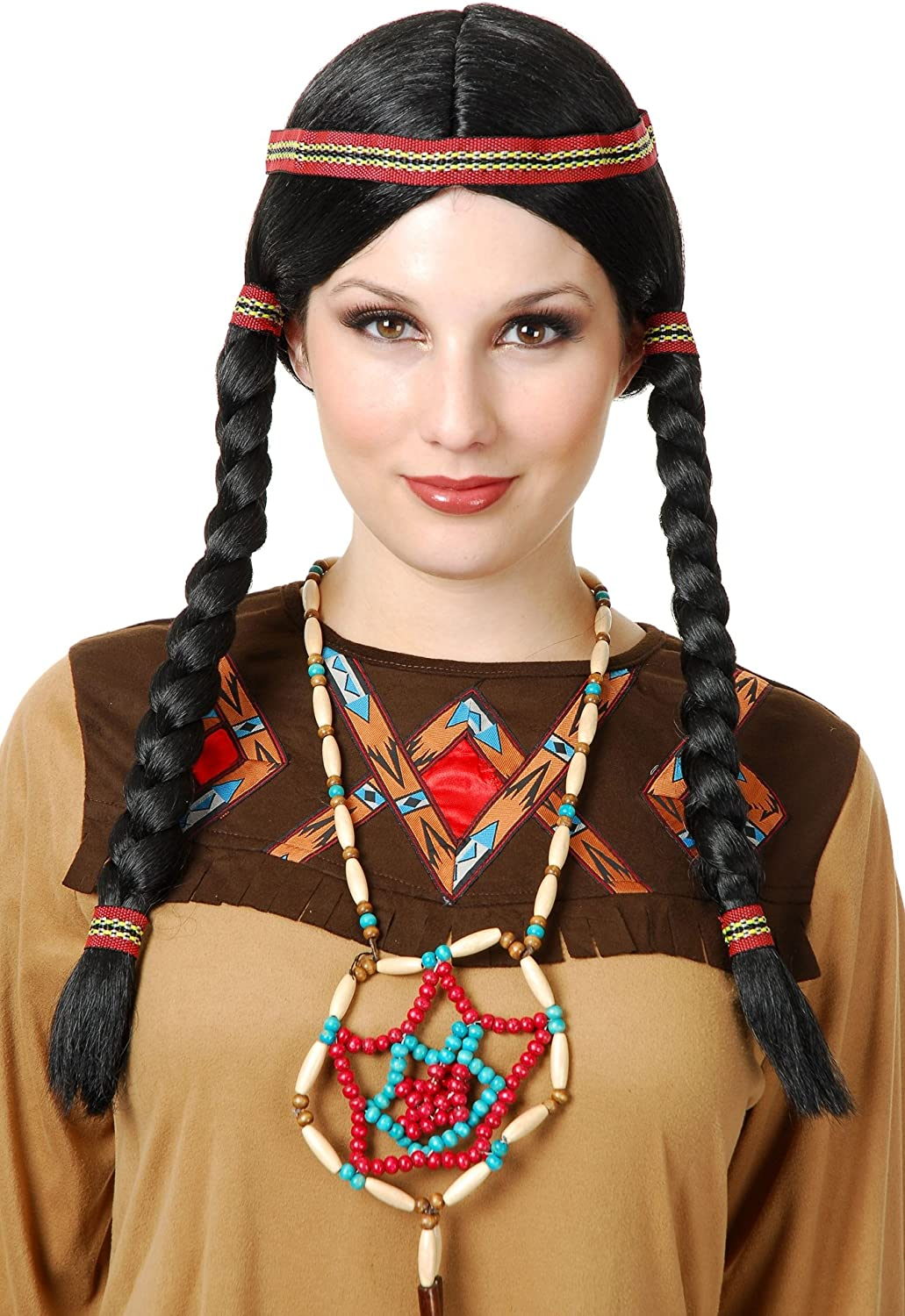 Charades Women's Indian OFFicial site Maiden Costume Wig Special sale item