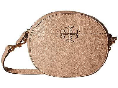 Tory Burch Mcgraw Convertible Round Crossbody (Devon Sand) Cross Body Handbags