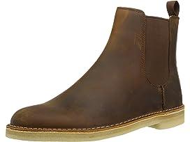 Clarks Women's Desert Peak. Chelsea Boot, Beeswax Black Leather, 6.5 Medium US