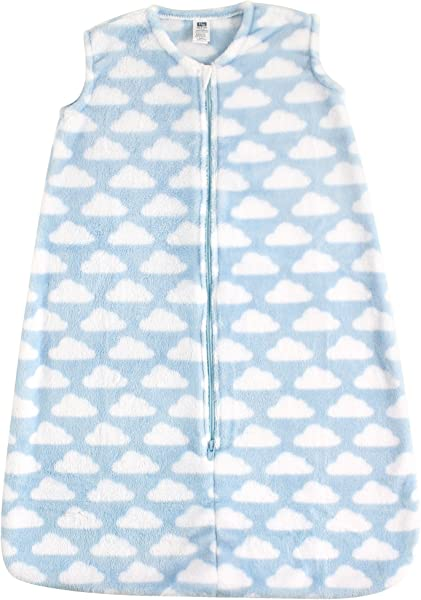 Hudson Baby Baby Wearable Safe Cozy Warm Sleeping Bag Blue Clouds Microplush 0 6 Months