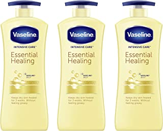 Vaseline hand and body lotion Intensive Care Moisturizer for Dry Skin Essential Healing Clinically Proven to Moisturize De...