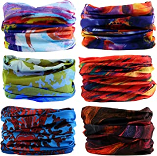 LOTUYACY Outdoor Wide Headband,Elastic Seamless Scarf UV Resistence Sport Headwear for Men&Women,Workout,Yoga,Multi Function,Constructed with High Performance Moisture Wicking Microfiber
