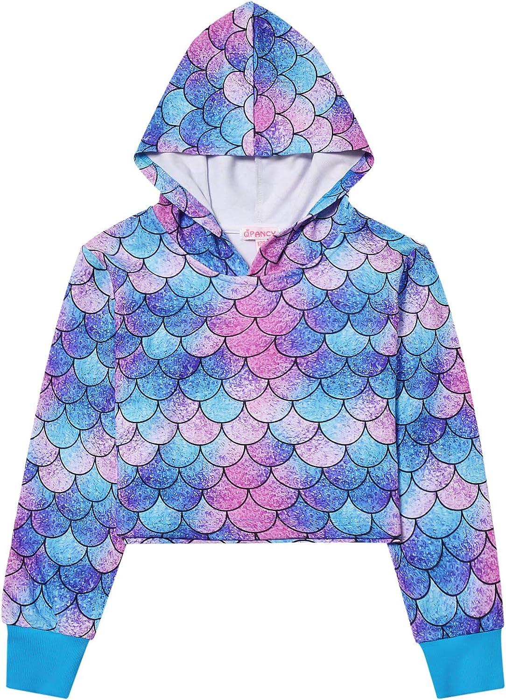 Qpancy Cropped Hoodie for Girls Kids Crop Top Sweatshirts Shirts