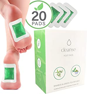 Tokiro Body Cleanse Foot Pads (20-Pack) with Green Tea & Natural Bamboo Vinegar to Release Impurities, Promote Deep Sleep, Relieve Pain and Stress   Energy & Metabolism Boost