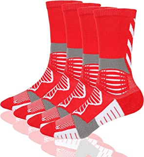 Professional Outdoor Sports Basketball Compression Athletic Socks, Boy's and Men's Sport Cushion Elite socks
