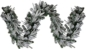 """Northlight 9' x 10"""" Flocked Winfield Fir Artificial Christmas Garland - Unlit"""