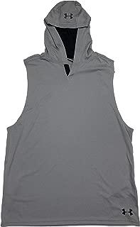 Under Armour Men's HeatGear Velocity Loose Fit Sleeveless Hoodie Shirt