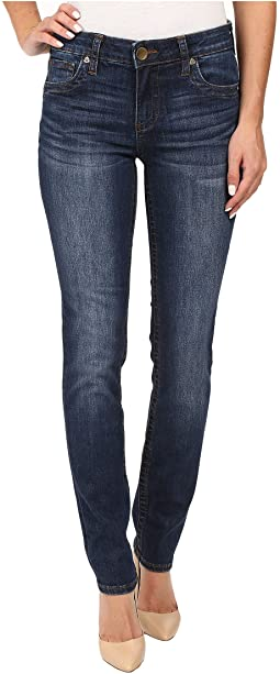 Stevie Straight Leg Five-Pocket Jeans in Admiration w/ Dark Stone Base Wash