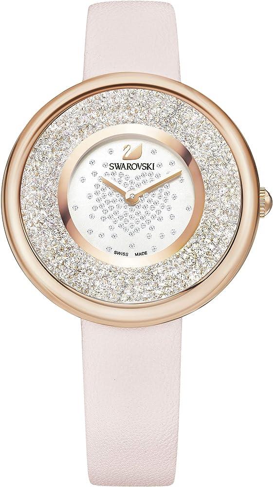 Swarovski crystalline pure orologio  da donna con cinturino in pelle 5376086