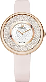 Reloj Crystalline Pure, PVD en tono oro rosa, brazalete de metal, para mujer