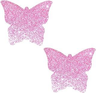 Neva Nude Super Sparkle Glitter Butterfly Nipztix Pasties Nipple Covers