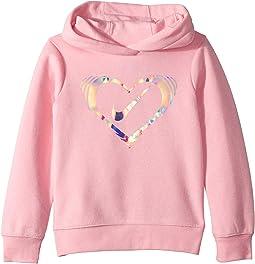 Iridescent Heart Fleece Pullover (Little Kids)